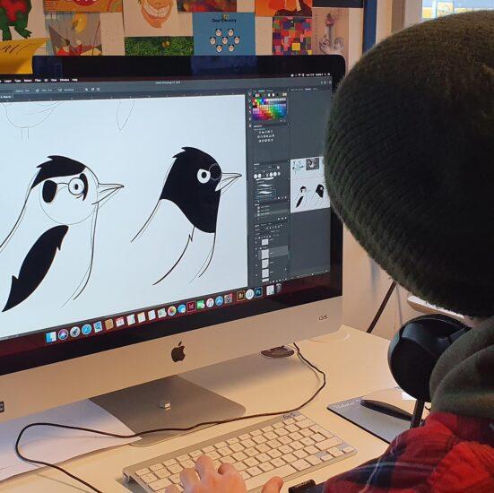 Grafisk Design og Webdesign - FGU NORD - Gladsaxe - logo design fugl